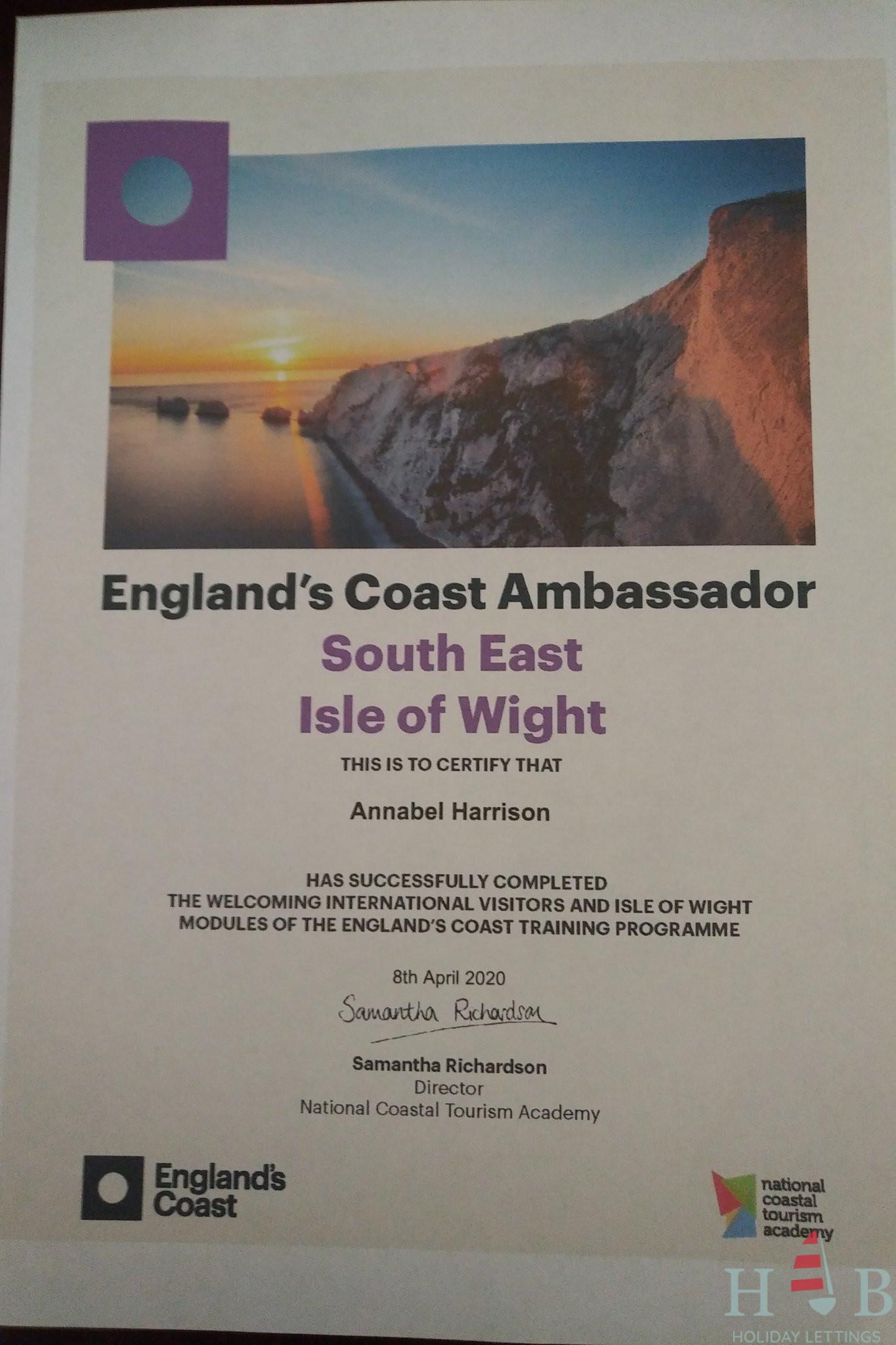 England's Coast Ambassador