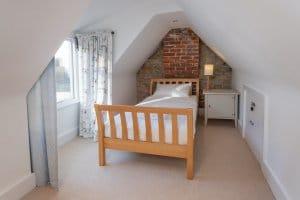 Upstairs bedroom in eves